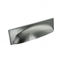 Georgia Cup Handle - Brushed Satin Nickel - 128mm Centres
