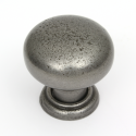 Bordeaux Pewter Finish Cabinet Knob - 35mm