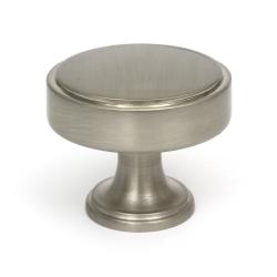 Calgary Brushed Satin Nickel Cabinet Knob - 35mm