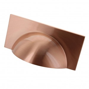 Monmouth Square Brushed Copper Cup Handle - 64mm Centres