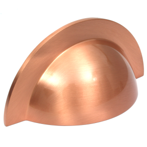 Monmouth Brushed Copper Cup Handle | 64mm Centres
