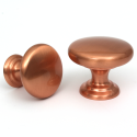 Monmouth Brushed Copper Cabinet Knob - 38mm