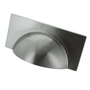 Monmouth Square Brushed Satin Nickel Cup Handle - 64mm Centres
