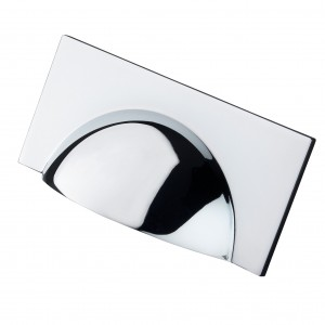 Monmouth Square Polished Chrome Cup Handle - 64mm Centres