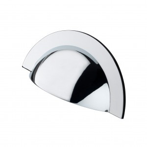 Monmouth Polished Chrome Cabinet Cup Handle - 64mm Centres