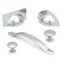 Monmouth Polished Chrome Cabinet Bow Handle 160mm Centres