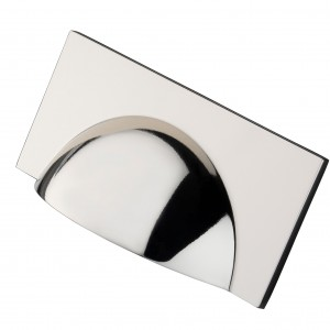 Monmouth Square Polished Nickel Cup Handle - 64mm Centres