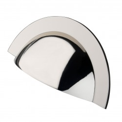 Monmouth Polished Nickel Cabinet Cup Handle - 64mm Centres