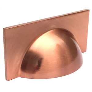 Monmouth Square Brushed Copper Cup Handle | 64mm Centres
