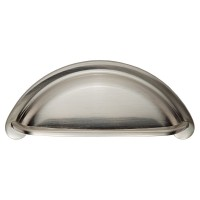 Satin Nickel Cabinet Cup Handle - 76mm Centres