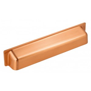 148mm Brushed Copper Cabinet Cup Pull Handle - 128mm Centres