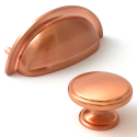 38mm Brushed Copper Cabinet Door Knob