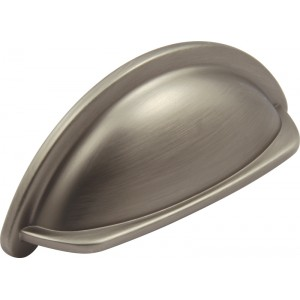 95mm Pewter Finish Cabinet Cup Pull Handle - 76mm Centres