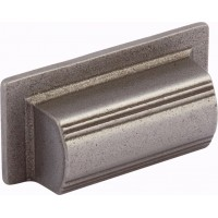 102mm Square Antique Pewter Cup Handle - 64mm Centres