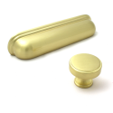 Calgary Brushed Satin Brass Cabinet Knob - 35mm