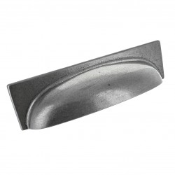 George Pewter Finish Cup Handle - 96mm Centres