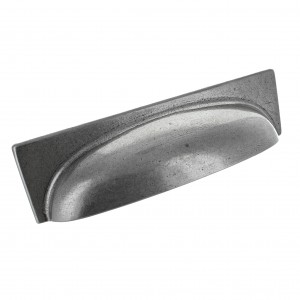 George Pewter Finish Cup Handle | 96mm Centres