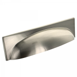Brushed Satin Nickel Georgia Cup Handle | 96mm Centres