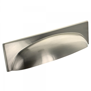 Georgia Cup Handle - Brushed Satin Nickel - 96mm Centres