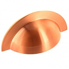 104mm Brushed Copper Cabinet Cup Pull Handle - 64mm Centres