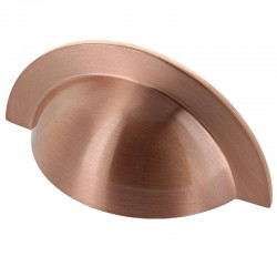 Monmouth Brushed Copper Cabinet Cup Handle - 64mm Centres