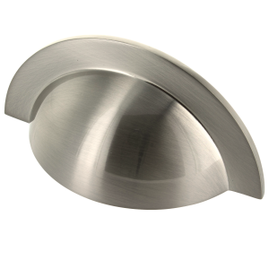 Monmouth Brushed Stainless Steel Cabinet Cup Handle - 64mm Centres