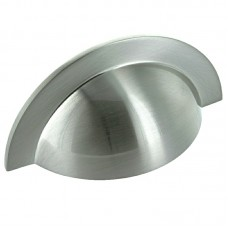 104mm Brushed Satin Nickel Cabinet Cup Pull Handle - 64mm Centres