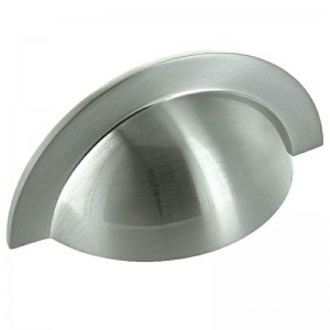 104mm Brushed Stainless Steel Cabinet Cup Pull Handle - 64mm Centres