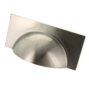 Monmouth Square Brushed Stainless Steel Cup Handle - 64mm Centres