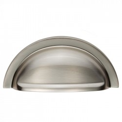 Oxford Satin Nickel Cabinet Cup Pull Handle - 92mm | 76mm Centres