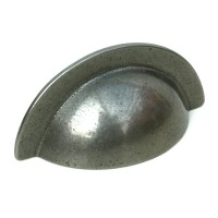 104mm Pewter Finish Cup Handle - 64mm Centres