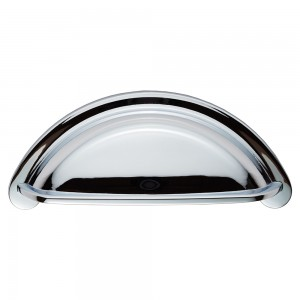 Polished Chrome Cup Handle | 76mm Centres