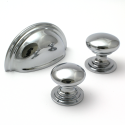 Polished Chrome Victorian Cupboard Knob | 50mm