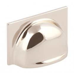 Queslett Cup Handle - Polished Nickel - 40mm Centres