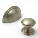 Satin Nickel Victorian Cupboard Knob | 32mm