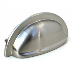 92mm Stainless Steel Cabinet Cup Pull Handle - 76mm Centres