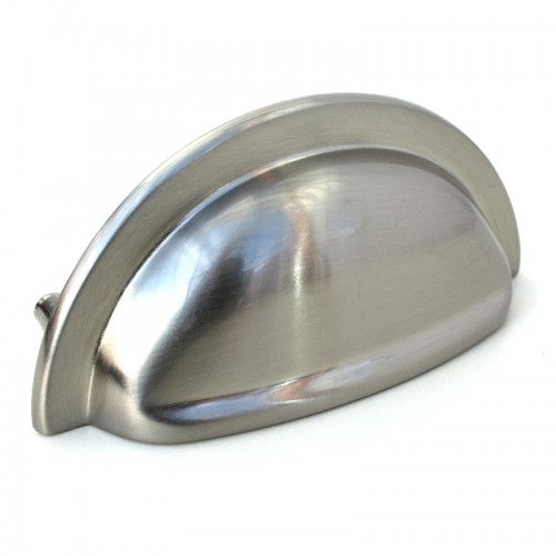Stainless Steel Cabinet Cup Pull Handle - 92mm | 76mm Centres