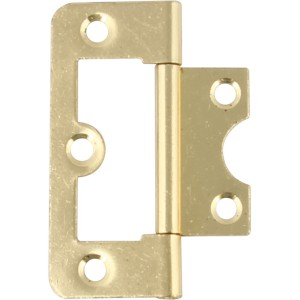 105 Flush Door Hinge - 60mm x 26mm - Zinc Plated