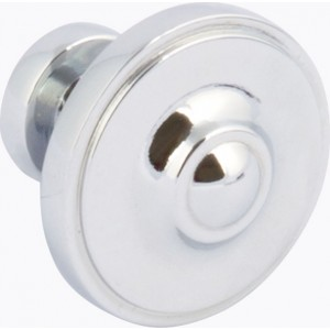 33mm Polished Chrome Cabinet Door Knob