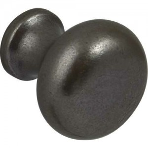 35mm Black Iron Traditional Cabinet Door Knob