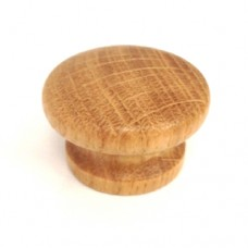 43mm Lacquered Oak Cabinet Door Knob