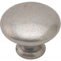 35mm Antique Pewter Finish Traditional Cabinet Door Knob