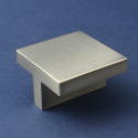 Stainless Steel Finish Square Cabinet Knob - 42mm