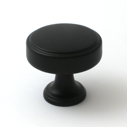 Calgary Matt Black Cabinet Knob - 40mm