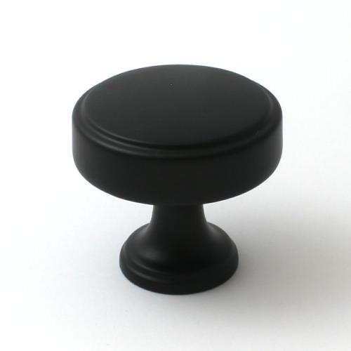 Calgary Matt Black Cabinet Knob - 35mm