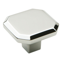 Corbusier Polished Chrome Square Cabinet Knob - 34mm