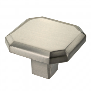 Corbusier Brushed Satin Nickel Square Cabinet Knob - 34mm