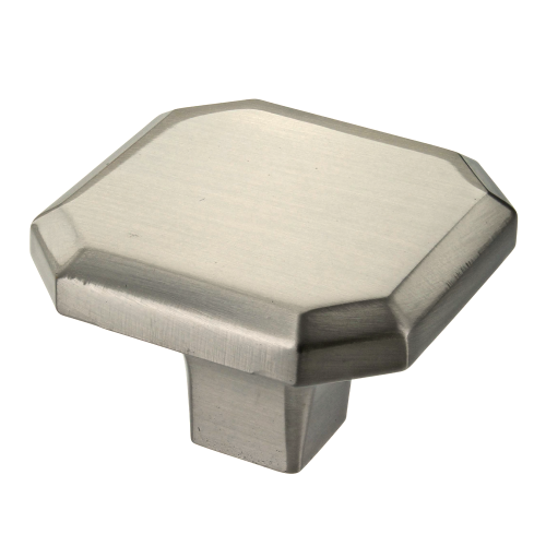 Corbusier Brushed Satin Nickel Square Cabinet Knob - 34mm