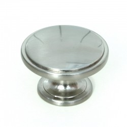 Stainless Steel Finish Cabinet Door Knob - 38mm