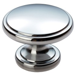 Polished Chrome Cabinet Door Knob - 38mm